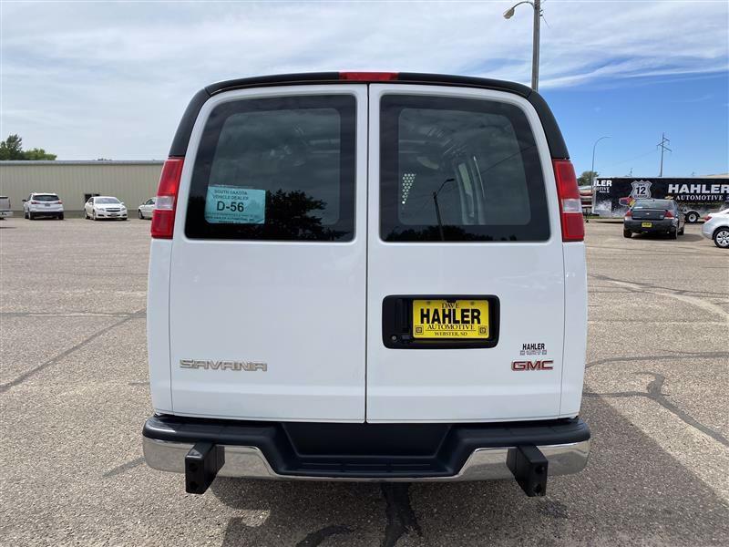 2019 GMC Savana Cargo 2500 | Webster, SD, Summit White (White), Rear Wheel